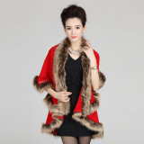 Châle chaud tricoté acrylique de l'hiver de fourrure de Faux de mode de femme (YKY4468)