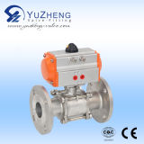 압축 공기를 넣은 Actuator 2PC Flanged Ball Valve