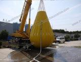 sacos enchidos água do peso da carga da prova 35t para a torre