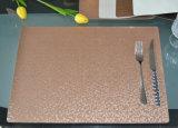 O lado de Duoble pode usar a ação de graças de couro Placemat do jantar da forma