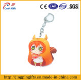 Animation sveglio Girl Metal Key Chain per Promotional Gift