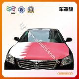 Kundenspezifische elastische Farbic Auto-Hauben-Markierungsfahne für Auto