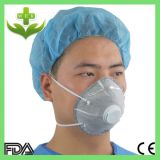 弁のない使い捨て可能なN95 Ffp1実行中カーボン円錐形マスク