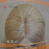 Het Europese Menselijke Toupetje Topper van de Blonde van het Hoogtepunt van de Kleur van de Blonde Lichte Mono