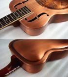 Aiersi Resonator-Gitarre der kupferne Karosserien-einzelne Kegel-Art-O