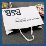 높은 광택 있는 까만 인쇄 손잡이 종이 봉지 (DM-GPBB-154)