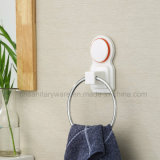 Stanza da bagno Fittings ABS White Towel Ring con Silicone Suction Cup
