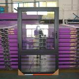 Ввозимые товары профиля цвета высокого качества окно Casement серого алюминиевого открытое с Multi замком и втройне стеклом Kz304