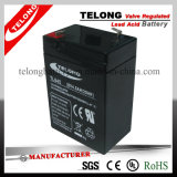 세륨 RoHS UL를 가진 6V4.5ah Secruity Alarm System Battery