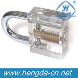 Cadeado cortante profissional transparente da prática Yh9254 para ferramentas do Locksmith do treinamento