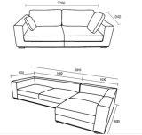 집 디자인 (SF014)를 위한 고품질 L 모양 가죽 소파