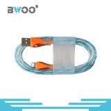 Cable de datos de fibra óptica del USB del micr3ofono/del relámpago para el teléfono elegante