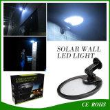 El nuevo diseño 500LM Luz solar solar de la pared LED de iluminación al aire libre 56LED SMD3014 flexible giratorio con sensor PIR y el modo Dim