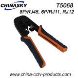 Cortador-Espadelador-Frisador da ferramenta do friso RJ45 em um (T5068)