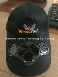 Förderung-Geschenk-Baseball-Solar Energy Ventilator-Schutzkappen-Sport-Hut