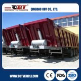 Obt Brand 3 차축 Hydraulic Rear Tipper Semi Trailer