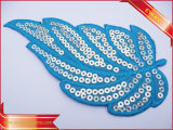 Applique Sequin bordado bordado Parche Parche de chenilla tela Patch