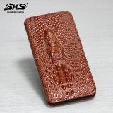 Cas chaud de téléphone mobile de livre de folio de crocodile