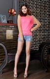 Металлический цепной свитер цвета контраста для женщин