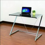Z Shaped Metal Glass Computer Desk (가정 가구를 위한 WS16-0009,)