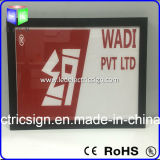 Panneau acrylique de l'armature LED d'affiche de feuille annonçant l'aluminium de boîte