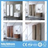 Vanités de salle de bain modernes avec deux bassins et armoires latérales (BF126N)