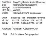 Indicatore luminoso approvato IP67 impermeabile di combinazione dell'ECE LED