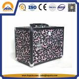 Caso elegante da vaidade da composição do leopardo da beleza com espelho (HB-1007)