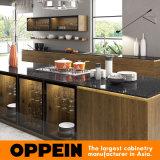 Elegante natural moderno de Oppein Zen-Como las cabinas de cocina de madera de la melamina (OP16-PVC01)