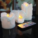Yellow sicuro Flickering LED Tealight Candle con Timer Function