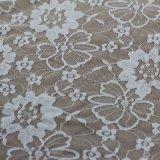 Tela de nylon del cordón del telar jacquar del diseño floral para la ropa