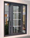 /Di alluminio di vetratura doppia scivolamento fisso metallo di alluminio di vetro & finestra della stoffa per tendine con Grils