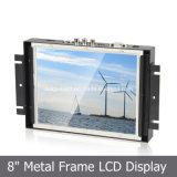 8 pulgadas Monitor de Publicidad Embedded con marco de metal de la pantalla LCD
