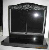Polished совершенно черный камень Hebei черный высекая черный памятник гранита