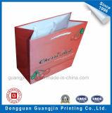 El papel de impresión en color rojo Bolso de compras con la laminación