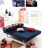 居間の使用(SB001)のための青いファブリックソファーベッド