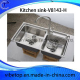 Personalizado hecho a mano de cocina de acero inoxidable fregadero de la colada