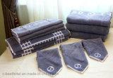 極度の柔らかく、贅沢な綿のジャカードホテルのテリータオル