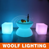 Muebles de LED Multicolor Plastic LED Cube Seat