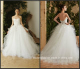 Платье венчания H847 Tulle без бретелек мантии шарика флоры Bridal выполненное на заказ