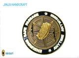 Moneda rotatoria del laminado Two-Tone del oro y de la plata (JINJU16-030)