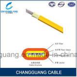Internet de fibra óptica plano de interior del cable del cable óptico del cable de cinta de la fibra de la base del cable óptico de fibra de Gjdfjv del cable multi de la fibra