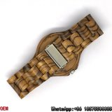 Relógios Zebra-De madeira Top-Quality de quartzo dos relógios