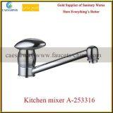Torneira de água de bronze do dissipador de cozinha do bico longo sanitário dos mercadorias