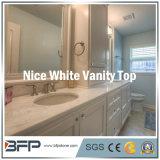 Parte superior de mármore branca elegante da vaidade para a parte superior do banheiro/a parte superior gabinete de banheiro