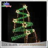 Luz do motivo do Natal de Pólo da rua comercial