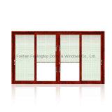 ventana de desplazamiento de cristal doble de la aleación de aluminio de 5m m con la red del obturador (FT-W126)