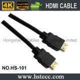 Cor do conetor do ouro e género HDMI Kable do Macho-Macho