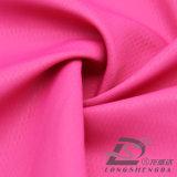 Agua y de la ropa de deportes tela tejida chaqueta al aire libre Viento-Resistente 100% del poliester del telar jacquar del PUNTO abajo (53091)