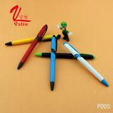 Pluma plástica promocional colorida del bolígrafo de la alta calidad de la fuente en venta